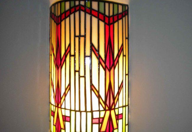 Applique personnalisée de chambre en vitrail Tiffany pour décoration d'intérieur unique