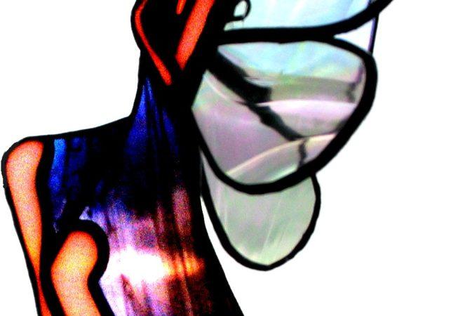 Mobile en vitrail personnalisé représentant une fée